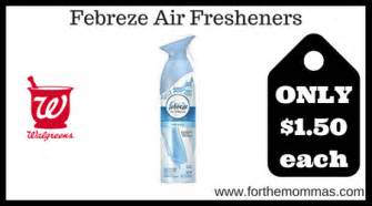 Febreze Air Freshener Coupons Walgreens Febreze Air Fresheners Only 1 50 Each Starting