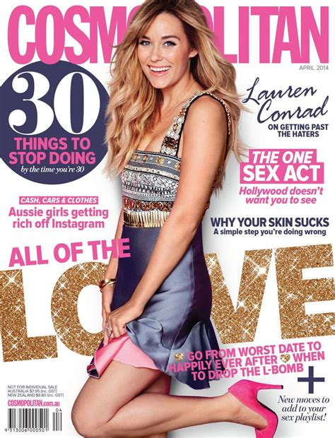 Conrad Lands The Cover Of Cosmo And Becomes The Spokesperson For Cosmetics by Conrad On The Cover Of Cosmopolitan Magazine April
