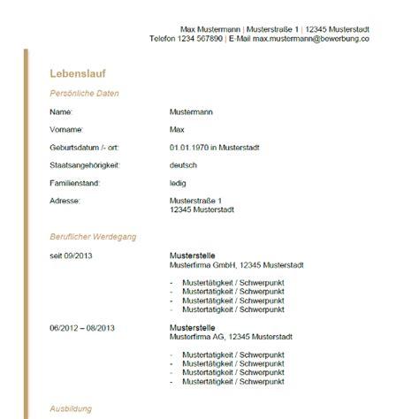 Tabellarischer Lebenslauf Muster 2013 Tabellarischer Lebenslauf Vordruck Bewerbung Co
