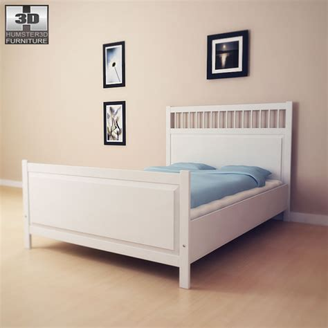 hemnes bed ikea hemnes bed 2 3d model humster3d