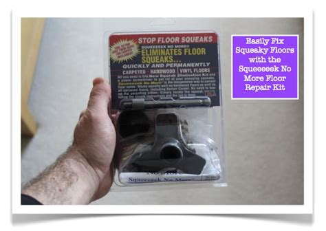 Repair Squeaky Floor Easily Fix Squeaky Floors With The Squeeeeek No More Floor Repair Kit Products I Or To