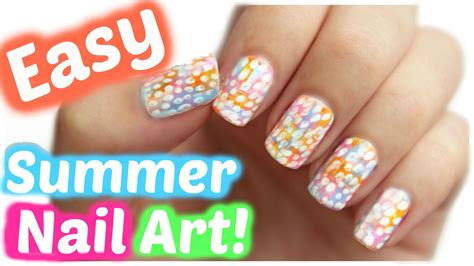 nail art tutorial easy no tools summer nail art no tools needed jennyclairefox youtube