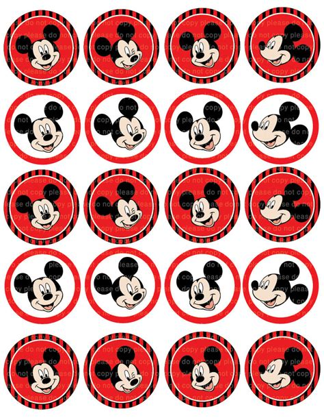 printable mickey stickers mickey cupcake toppers wilton 2113 7108 mickey and the