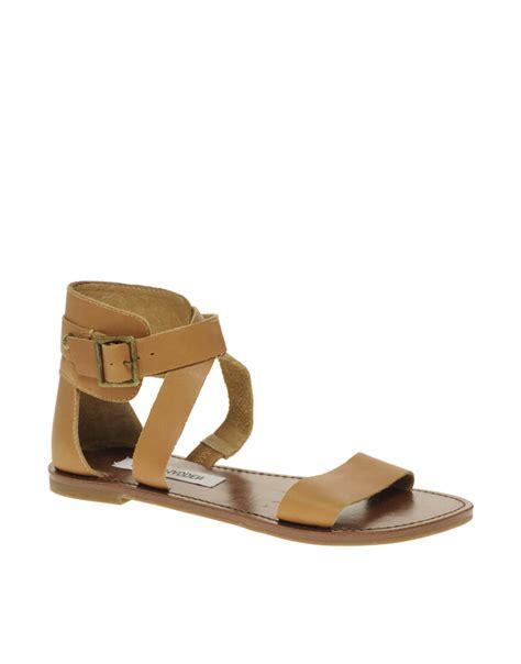 steve madden sandals flat steve madden bethany strapped flat sandals in brown