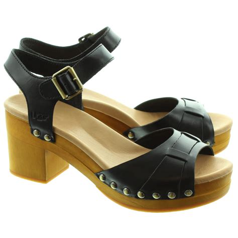 sandal clogs ugg janie clog sandals in black in black