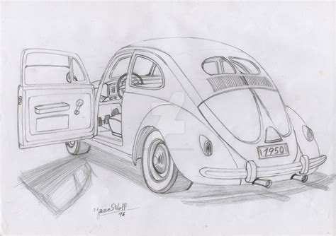 volkswagen beetle sketch 1950 volkswagen beetle sketch by thejameswolf on deviantart