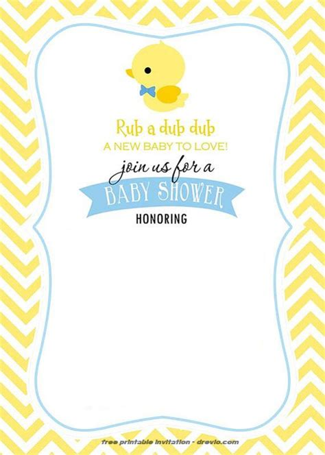 Free Printable Rubber Duck Invitation Template Free Invitation Templates Drevio Rubber Ducky Baby Shower Invitations Template Free