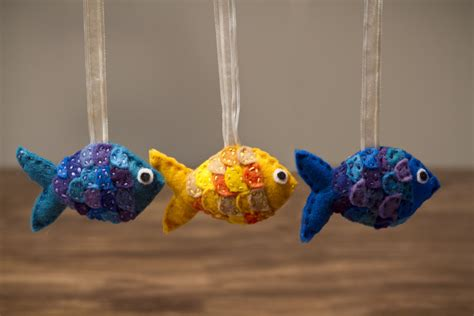 felt fish ornaments the vegan kat