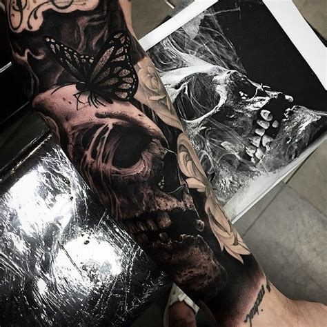 hyper realistic tattoo hyper realistic skull tattoos by drew apicture 2