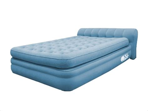aerobed  elevated headboard blue inflatable air bed