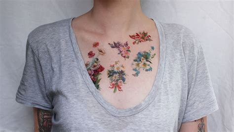 vintage flower tattoos vintage flower
