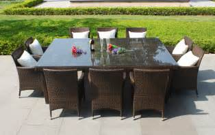 Oxford 10 seater wicker rattan dining set