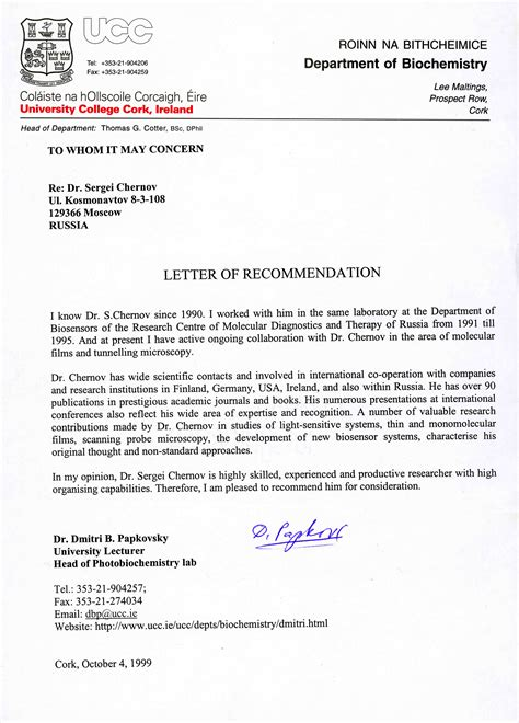 recommendation letter exle doctor cover letter templates