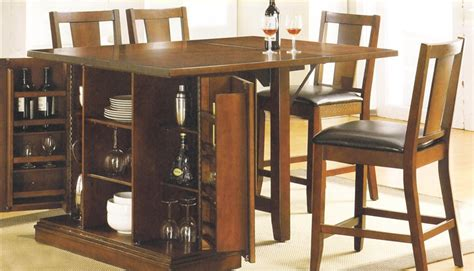 counter height kitchen island dining table kitchen island oak finish counter height 3 table set by acme 10234