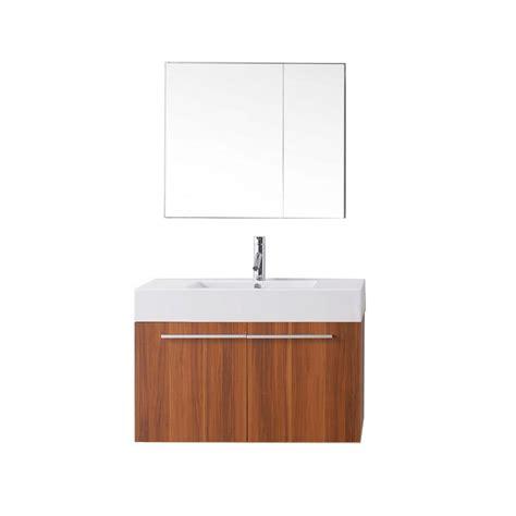 Polymarble Vanity Tops by Virtu Usa Midori 35 4 In W X 18 7 In D Vanity In Wenge With Polymarble Vanity Top In White