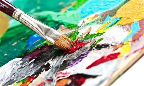 acrylic paint cass two hour painting class bridges studio groupon