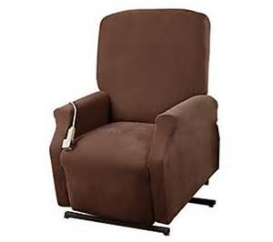 sure fit large lift recliner slipcover h350020 qvc