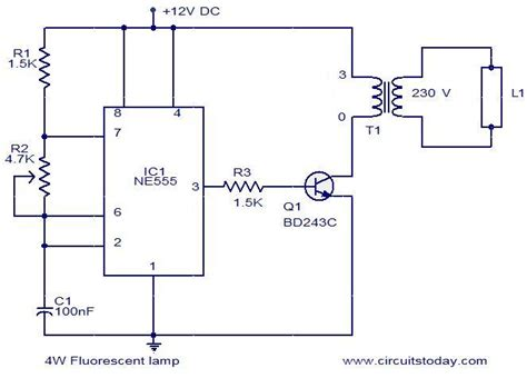 4w fluorescent l driver electronic circuits and