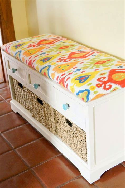 how to cushion a bench diy window seat bookcase with no sew bench cushion