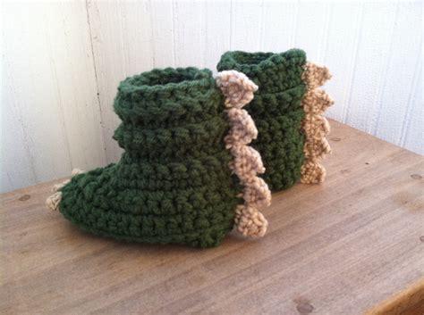 crochet dinosaur slippers dinosaur slippers dinosaur slippers by knitnknots