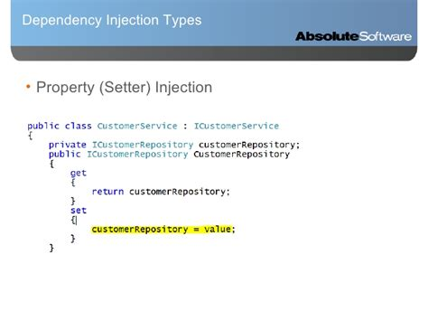 laravel dependency injection setter dependency injection ioc