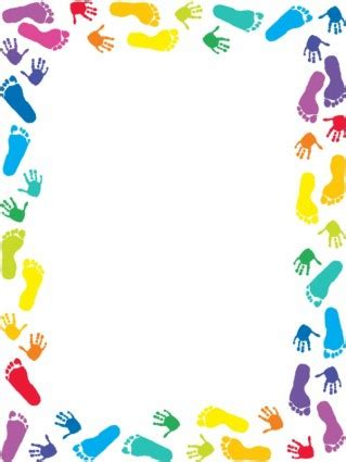 colorful baby footprints clipart | baby shower ideas