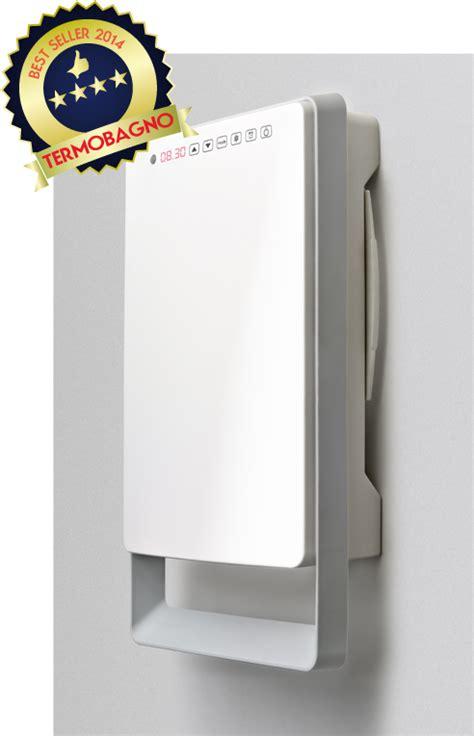termoventilatore da parete per bagno termoventilatore bagno digitale touch versione grigio