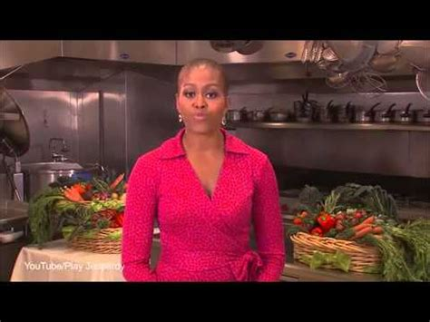 michelle obama bald first ladys jeopardy appearance michelle obama appears bald on jeopardy youtube