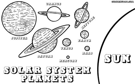 planet coloring page pdf label the solar system clipart image of solar system sun