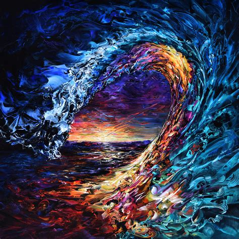 night wave painting by susan card