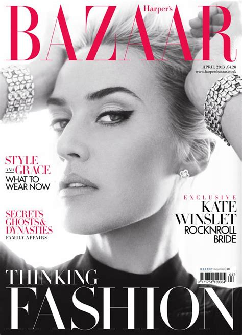 Kate Turns For Us Harpers Bazaar by Kate Winslet Shows Regal And Sides Ny Daily