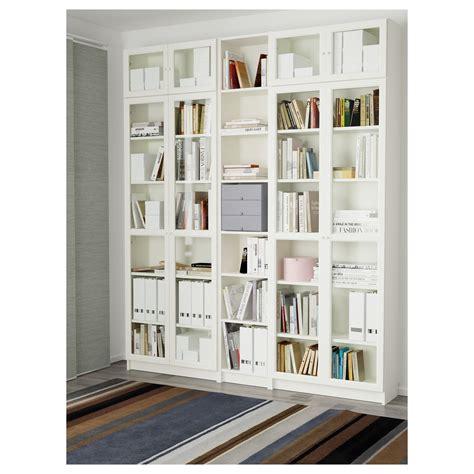 libreria billy rossa billy oxberg bookcase white 200x237x30 cm ikea