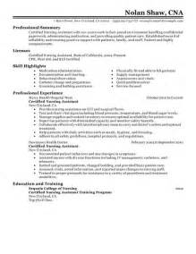 best nursing aide and assistant resume exle livecareer