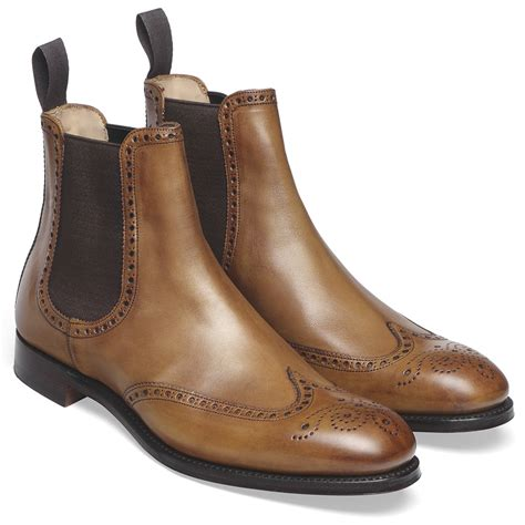 cheaney albert ii original chestnut chelsea boots made
