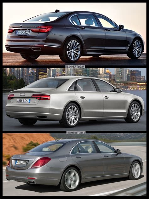 Price Comparison Bmw Audi Mercedes by Photo Comparison 2016 Bmw 7 Series Vs Mercedes S Class