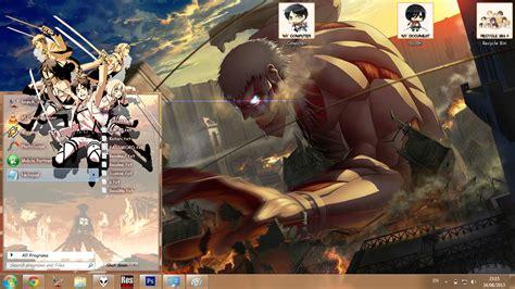 theme windows 8 1 attack on titan theme win 7 shingeki no kyojin attack on titan by bashkara