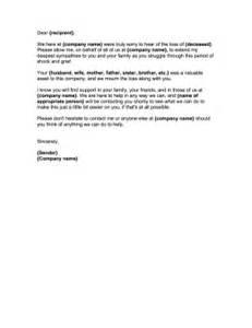 business letter condolences