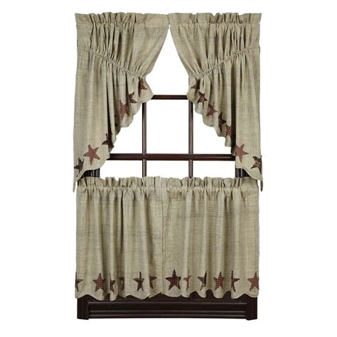 gathered swag curtains abilene star prairie gathered swags country village shoppe