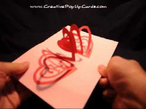 valentine s day pop up card spiral heart youtube