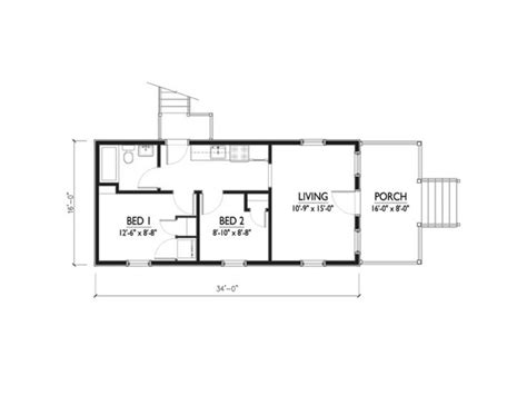 katrina cottage floor plan katrina cottage floor plan 544 sq ft rumah pinterest