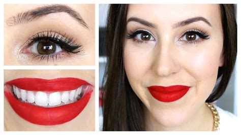 what looks good with red what eye makeup looks best with red lipstick mugeek