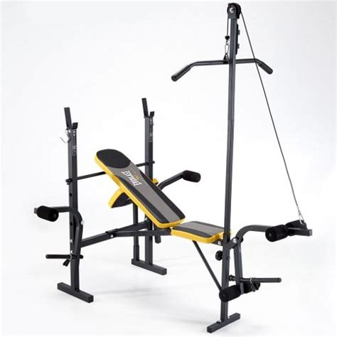 weight bench tesco buy everlast starter weight bench with lat pulldown