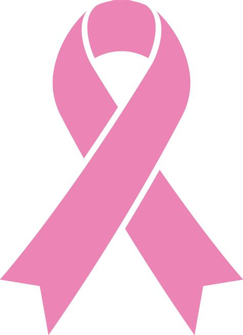 Pink Ribbon And Ribbon breast cancer awareness support ribbon vinyl decal sticker