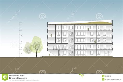 Constructing A Cross Section by Building Cross Section Stock Photo Image 50680112