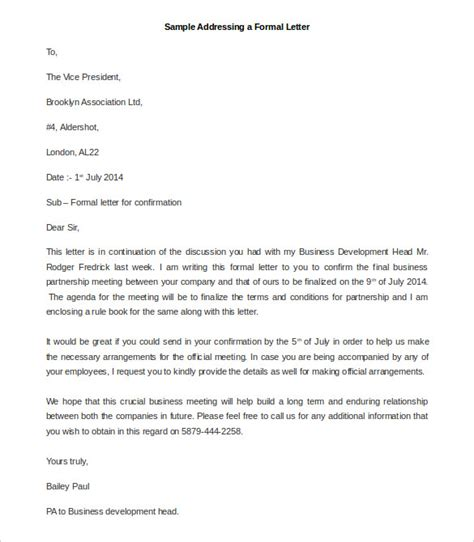 official letter writing format sle 23 best formal letter templates free sle exle