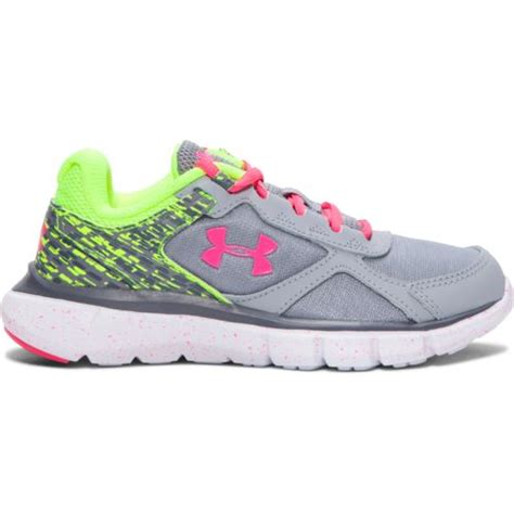 armour youth running shoes armour 174 gps velocity running shoes academy