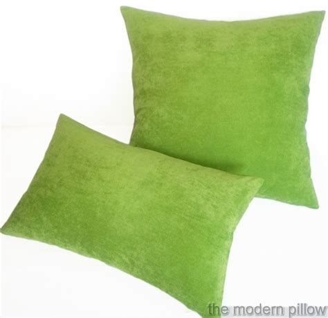 lime green sofa cushions 12x20 quot lime green velvet solid decorative throw pillow