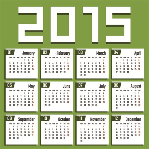 calendar design 2015 vector free download creative calendar 2015 vector design set 09 over