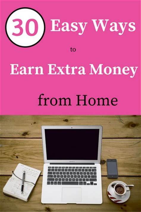 30 best ways to make money at home moneypantry