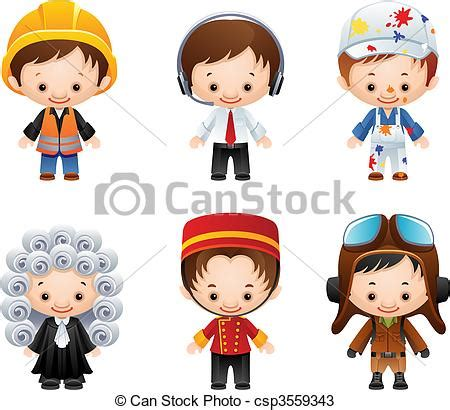 occupation icons. vector illustration set of people